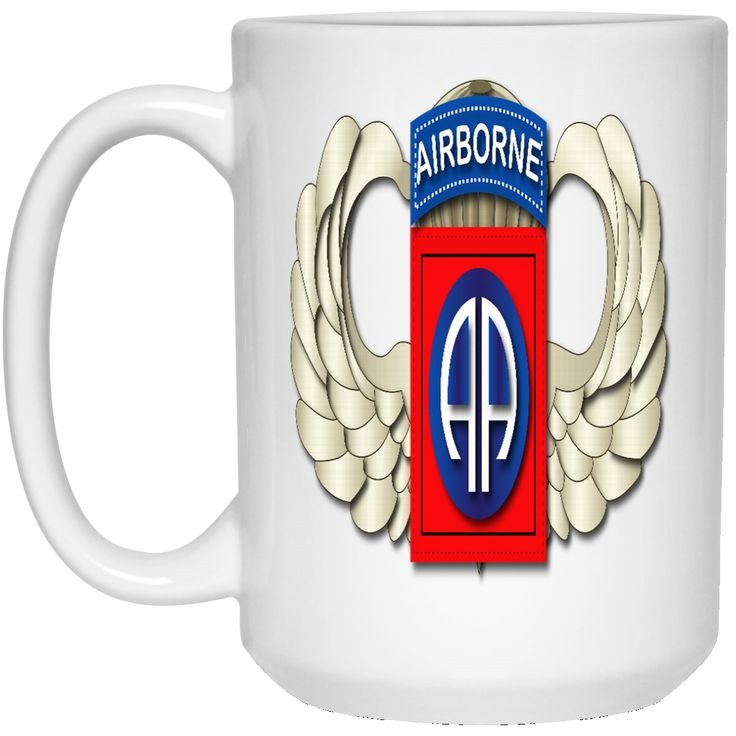 82ND AIRBORNE DIVISION WINGS 21504 15 oz. White Mug