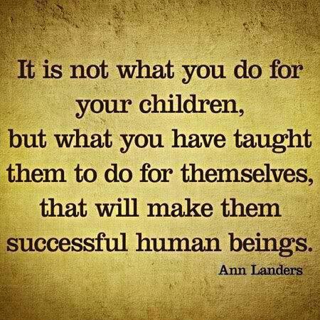 Be a good parent.