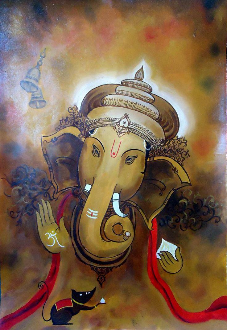 257 best Ganesha painting images on Pinterest | Ganesha ...