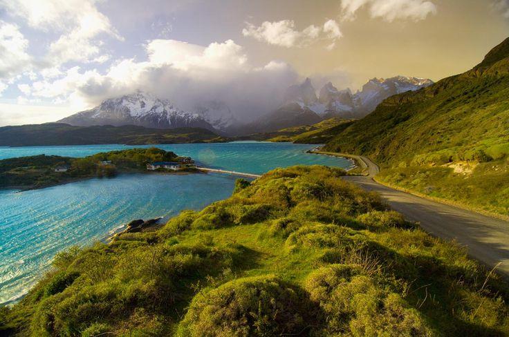 El lago Pehoe, en el parque chileno de Torres del Paine