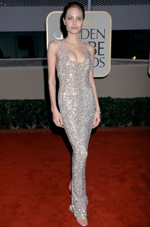 You could pluck this heavily-embellished dress straight out of 1999 and plop it onto the 2017 Golden Globe Awards red carpet and it wouldn't look a touch out of place. That '90s makeup might stand out, though.