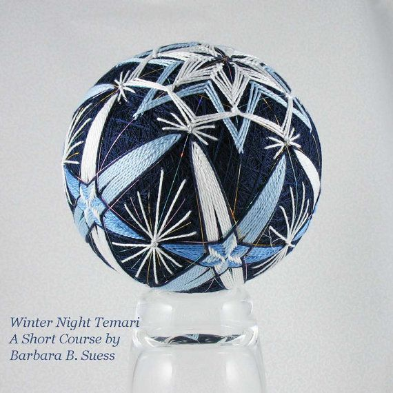 Temari Short Course Winter Night by Barbara B. by JapaneseTemari, $25.00