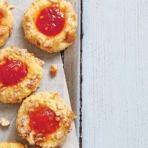 Cornmeal Thumbprint Cookies with Tomato Jam   MyRecipes.com