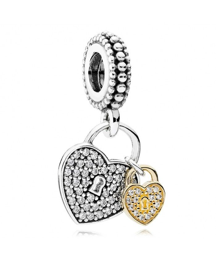 PANDORA Love Locks with 14K and Clear CZ Dangle Charm A lot of your favorite style will be here for you to show, work well, very cross the meaning of the times.
