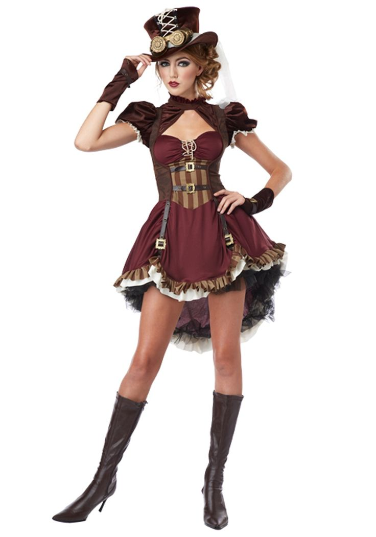 Plus Size Steampunk Lady Costume...comments say fits wonderfully for plush girls:) like me
