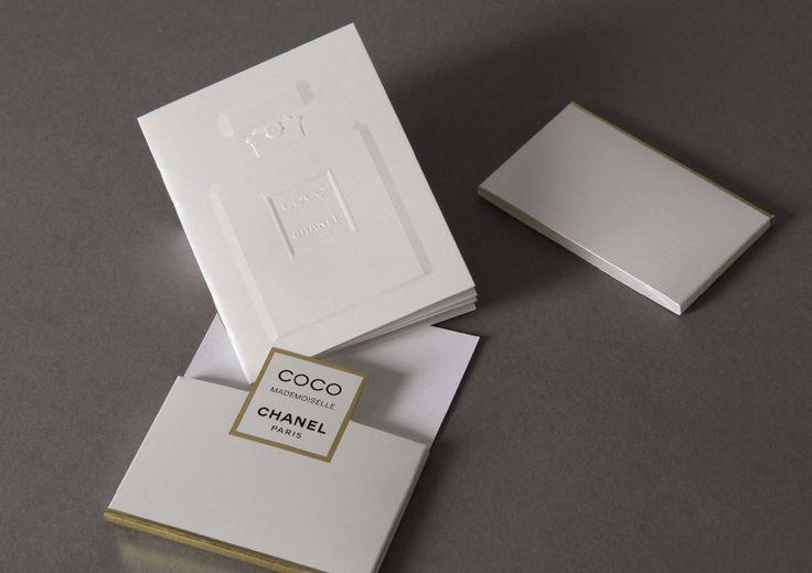 Chanel Coco Mademoiselle - Créanog, Studio de création, Bureau de fabrication, Atelier de gaufrage et marquage à chaud à Paris