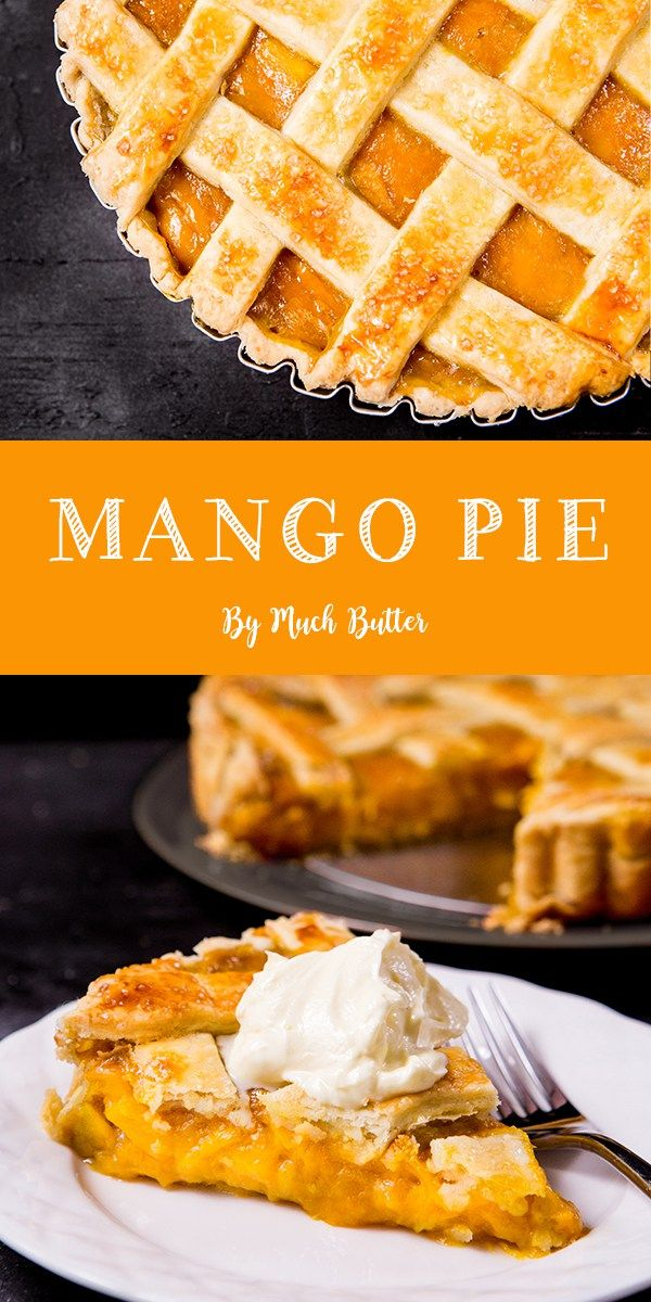 Tired of apple pies? Try this unique mango pie. Buttery crust, fruity & smooth m…