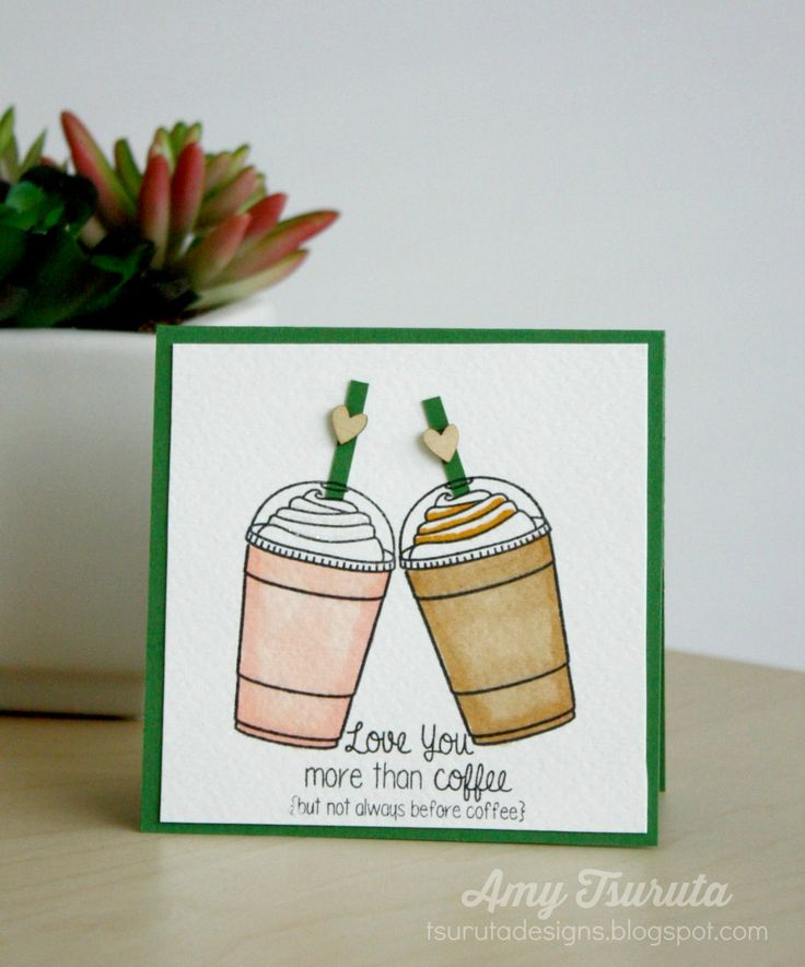 Tsuruta Designs: Lil' Inker Designs Day Three: I love you more than coffee