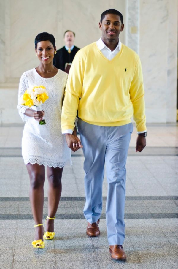Atlanta Courthouse Wedding With Yellow Color Scheme By Fotos Fola Teryn And Corey