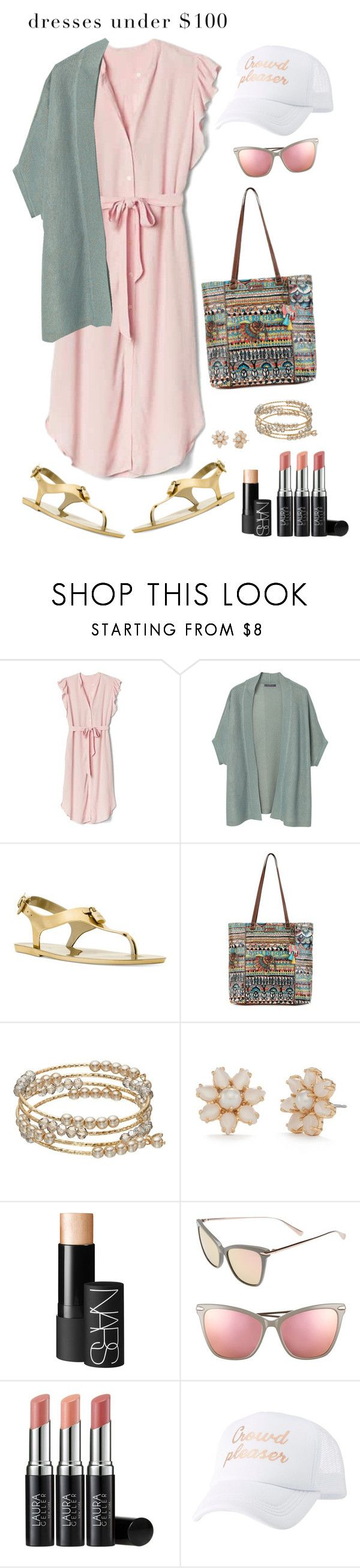 """""""Dresses under $100"""" by musicfriend1 on Polyvore featuring Gap, Violeta by Mango, Michael Kors, Sakroots, Kate Spade, NARS Cosmetics, Hadid, Laura Geller, Charlotte Russe and lovethis"""