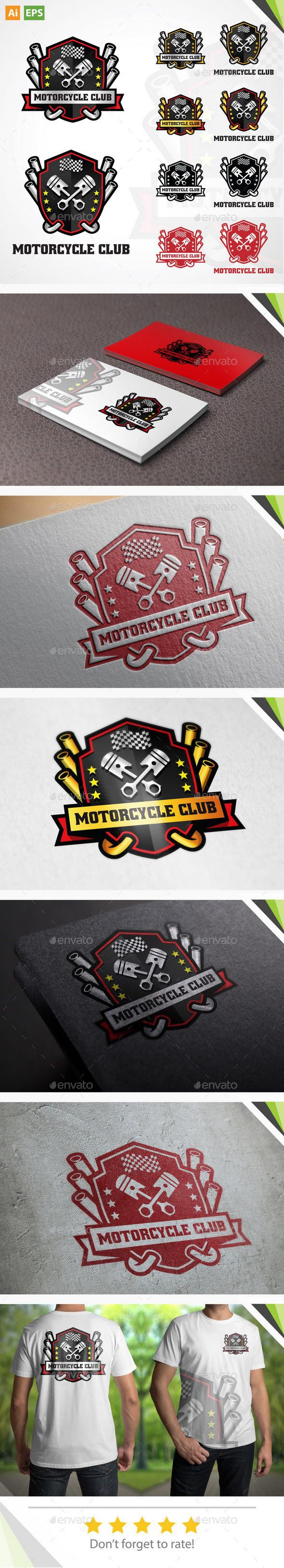 Motorcycle Club Logo — Vector EPS #motorcycle club logo #motorcycle club • Available here → https://graphicriver.net/item/motorcycle-club-logo/11179296?ref=pxcr