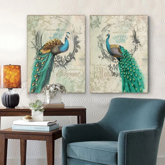 Find More Painting & Calligraphy Information about Peacock blue retro frame decorative artist decorative wall art oil painting canvas art shipping,High Quality art buddha paintings,China painting people in watercolor Suppliers, Cheap art painting set from WHAT ART on Aliexpress.com