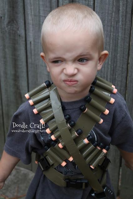 YES!!!  Doodle Craft...: Duct Tape Bullet Bandolier Belt and Utility Vest!