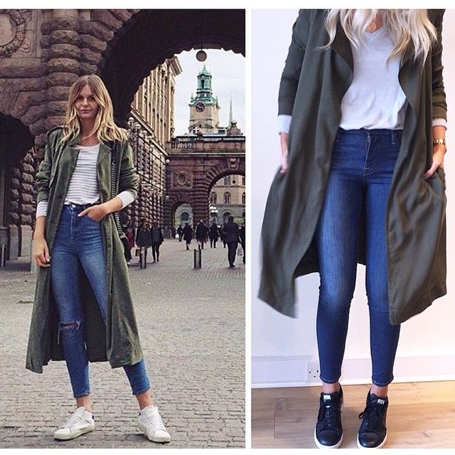 We've stolen this look from #fashionblogger @tuulavintage teaming our #new @americanvintage_officiel duster jacket and basic tee with @frame_denim and @adidasoriginals #stansmith trainers. The perfect transitional outfit to take us into Autumn/Winter #love #fashion #girly #style #ootd #stealherstyle in store and online soon x
