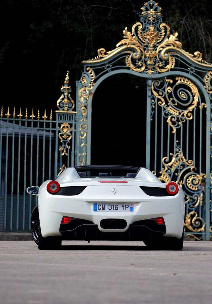 I think that I could drive home in a Ferrari 458 to a mansion through a beautiful gold encrusted gate.