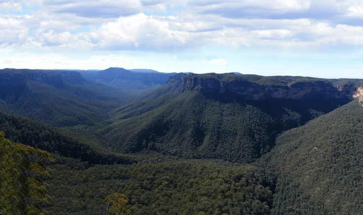 According to mystic seers, the characteristic blue haze seen in mountain canyons, currently attributed to Mie scattering-theory, is the most dense form of the Aether: the Chemical Ether. (Blue Mountains, Australia depicted)
