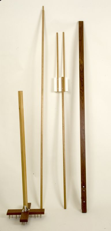 Louise Dickmann. A Wigwam for a Goose's Bridle 2006, (replicas of found one-off tools), mixed media, various dimensions, © Eva Fernandez.
