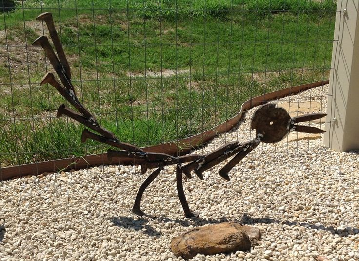 Railroad spike Roadrunner Completed today, 8/4/13.