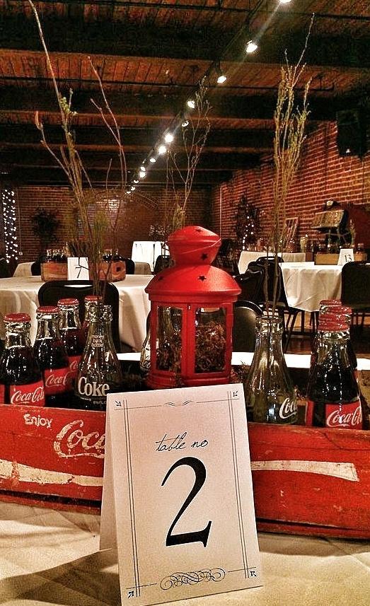 Coca-Cola wedding centerpieces