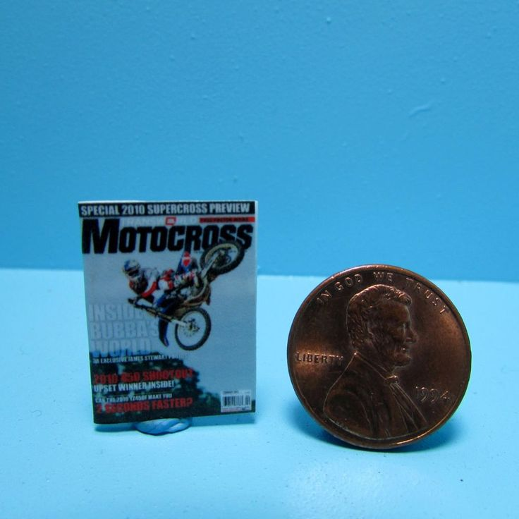 Dollhouse Miniature Replica of Motocross Magazine ~ Detail Printed B042 #miniatures #motorcycle