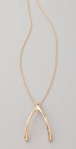 Belle Noel; wishbone necklace. love.