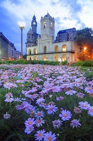 evening, National Cabildo, Buenos Aires, Argentina.