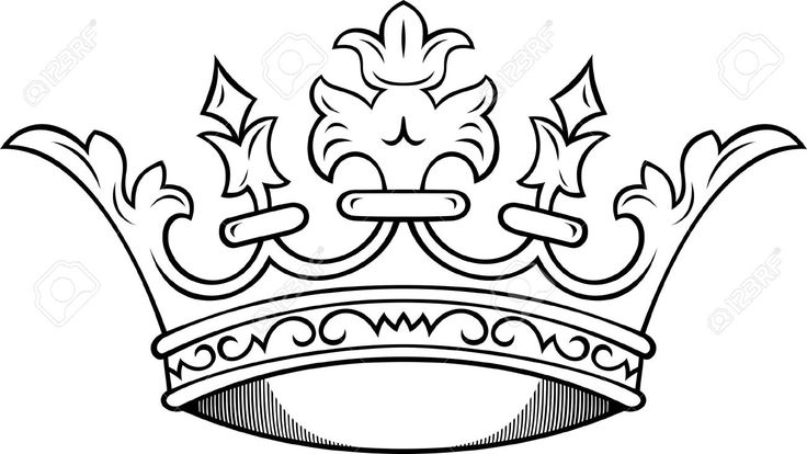 simple king crown drawing - Google Search