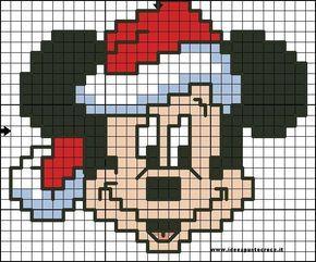 Perler Bead Christmas Mickey