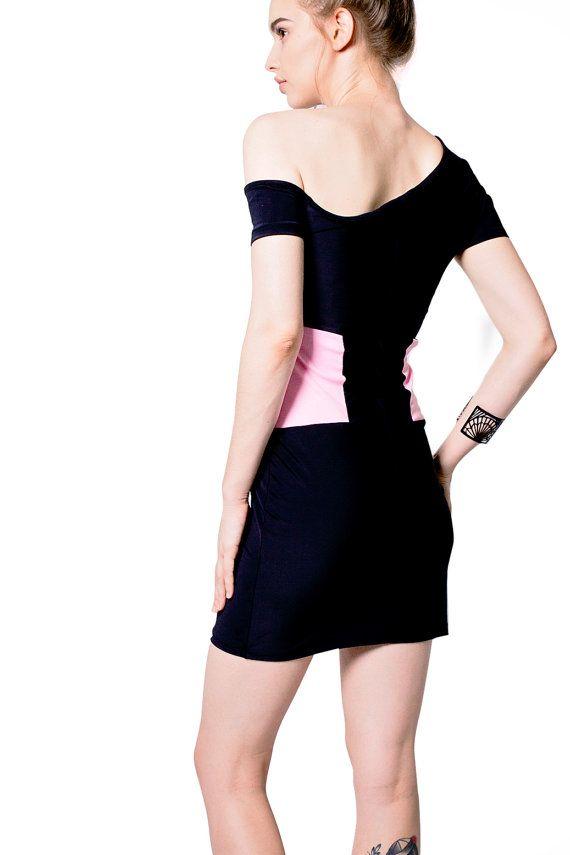 #Offshoulder #black #nylon #dress  Revival Dress by #MajesteeClothing #etsy #onlineshopping #fashion