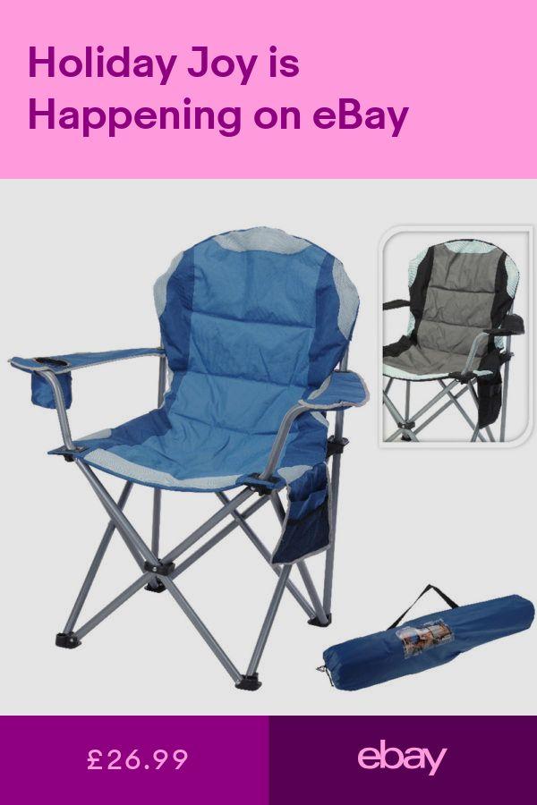 <b>Foldable</b> Deluxe Jumbo Chair Camping <b>Folding Fishing</b> Garden ...