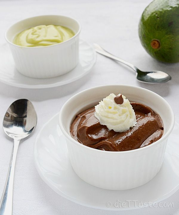 Avocado Chocolate Pudding - sugar-free, vegan, raw, diabetic friendly, healthy, low cal