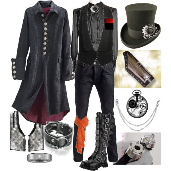 Perfect for the boyfriend... Steampunk Villain, created by lylias-dandies on Polyvore