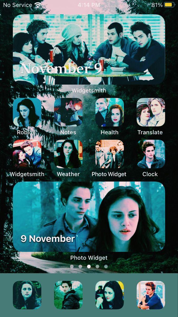𝐀𝐞𝐬𝐭𝐡𝐞𝐭𝐢𝐜 𝐓𝐰𝐢𝐥𝐢𝐠𝐡𝐭 𝐈𝐎𝐒 14 𝐇𝐨𝐦𝐞𝐬𝐜𝐫𝐞𝐞𝐧 In 2021 Twilight Film Twilight Homescreen