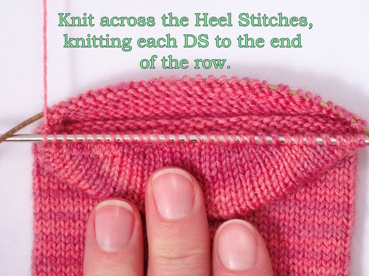 Heidi Bears: Two-at-time-socks on a Magic Loop: The Heel, Part 1