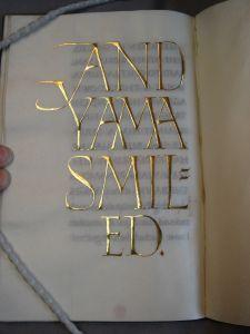 Graily Hewitt gilded letters