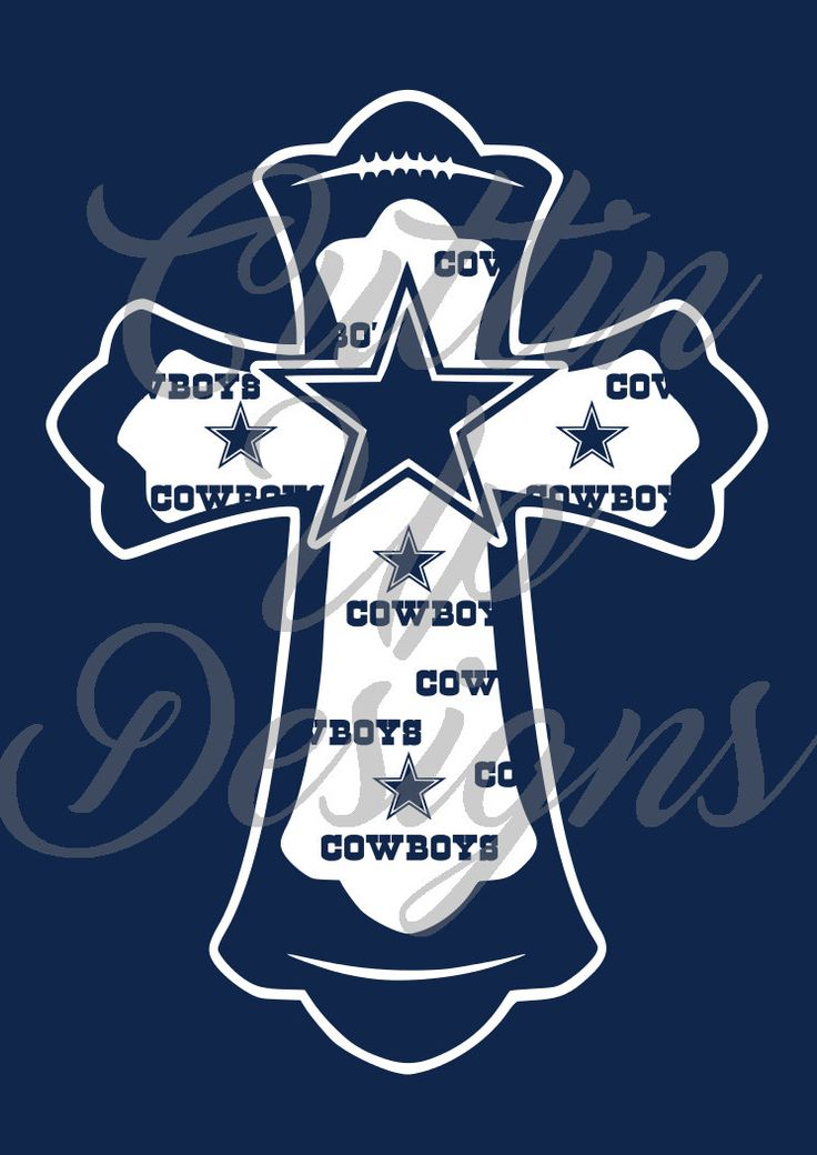 Dallas Cowboys Football Cross SVG Cutting file for Cricut or Cameo (must be able to use svg files or convert online for free) by CuttinUpGifts on Etsy