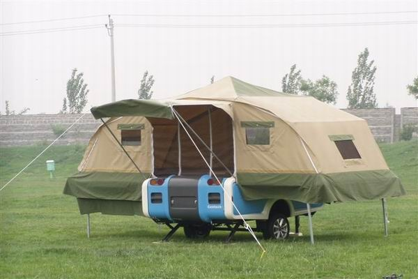 Model Inspired By Jack Kerouacs On The Road, Soon Park Traveled From Boston To Los Angeles And Back In In 2009, Driving Thousands Of Miles Pulling A $2,500 Popup Camping Trailer  With IKamper Rooftop Tents, Our Campers Take A