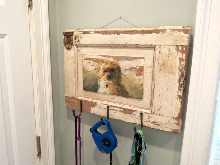 Custom hand painted dog leash holder #dogleash   ECustomFinishes.com