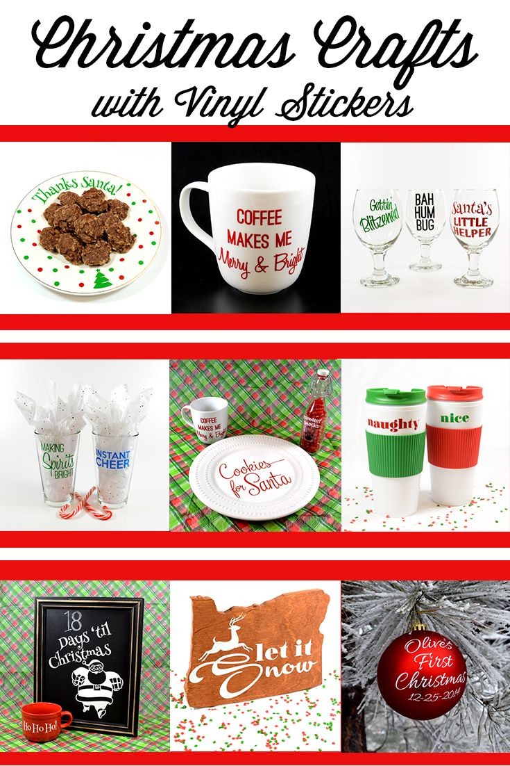 Best Images About Holiday Crafts Decorations With Stickers - Custom vinyl decals for crafts