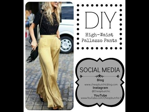 Sew with Me: High-Waist Pallazzo Pants, My Crafts and DIY Projects