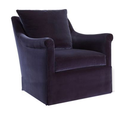 Jules Dressmaker Swivel Chair from the Atelier collection by Hickory Chair Furniture Co.