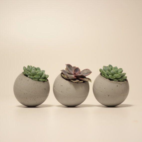 He encontrado este interesante anuncio de Etsy en https://www.etsy.com/es/listing/225468174/pallina-set-of-three-concrete-flowerpots