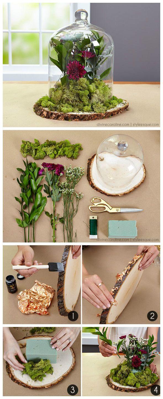 ~ DIY Floral Cloche Rustikal inspirierte Arrangement ~ Sie können sich mit …   – Bouquet Flowers :))