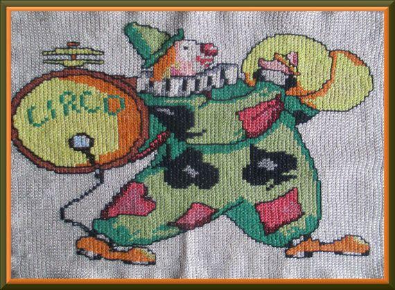 PICTURE CLOWN  mulina image     OBRAZ pajac clown by Anetmoda