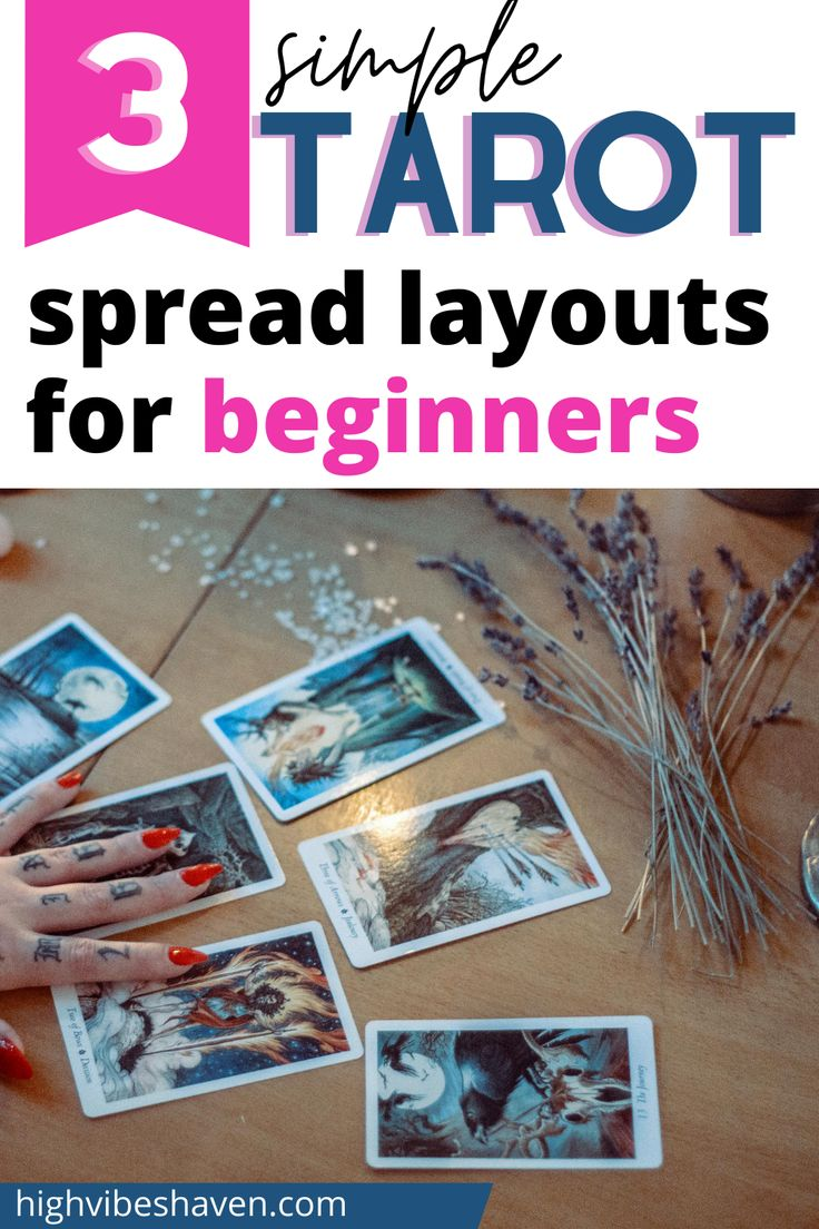 3 easy tarot spreads for beginners tarot spreads layout