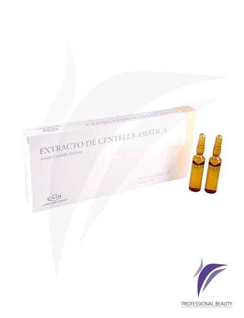 Extracto de Centella Asiática Caja x10 ampolletas de 5ml: La Centella Asiática es un tratamiento indicado para celulitis fase I y II, cicatrices y estrías.