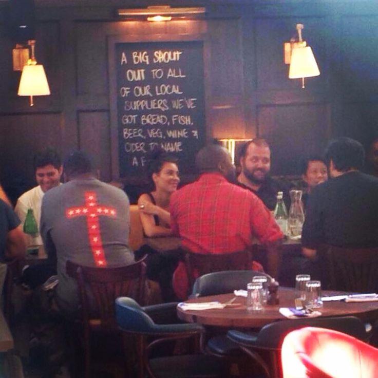 Kim & Kanye having dinner at Jamie's Italian Restaurant in Adelaide, South Australia. 9/6/14