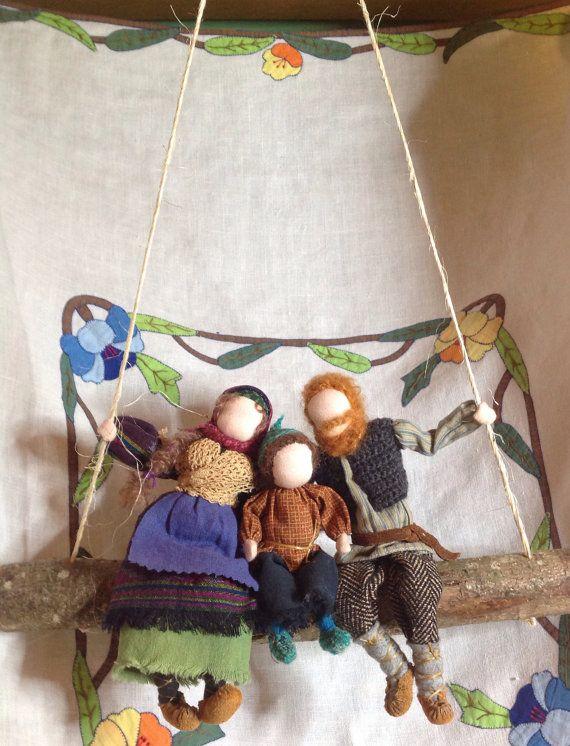 Ooak Wire sculpted folk doll family by storybrookdolls on Etsy, $160.00