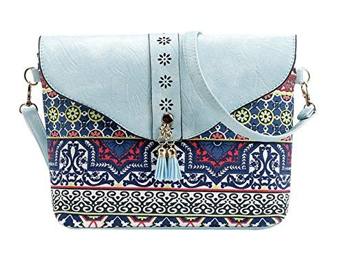 New Trending Clutch Bags: HeySun Ladies Lightweight Printing Cross-Body Clutch Bag with Tassels (Skyblue). HeySun Ladies Lightweight Printing Cross-Body Clutch Bag with Tassels (Skyblue)   Special Offer: $9.99      377 Reviews HeySun Leisure Women's crossbody bags has an abundant room for all necessities. We offers the latest trends and styles. It's a good choice for traveling,...