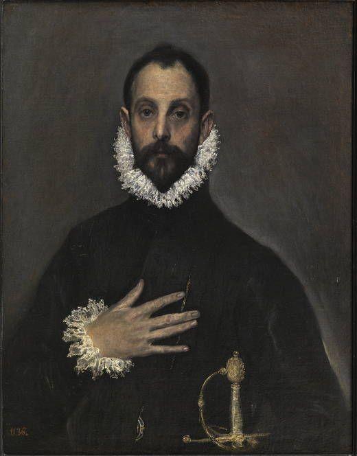 El caballero de la mano en el pecho, hacia 1580.El Greco